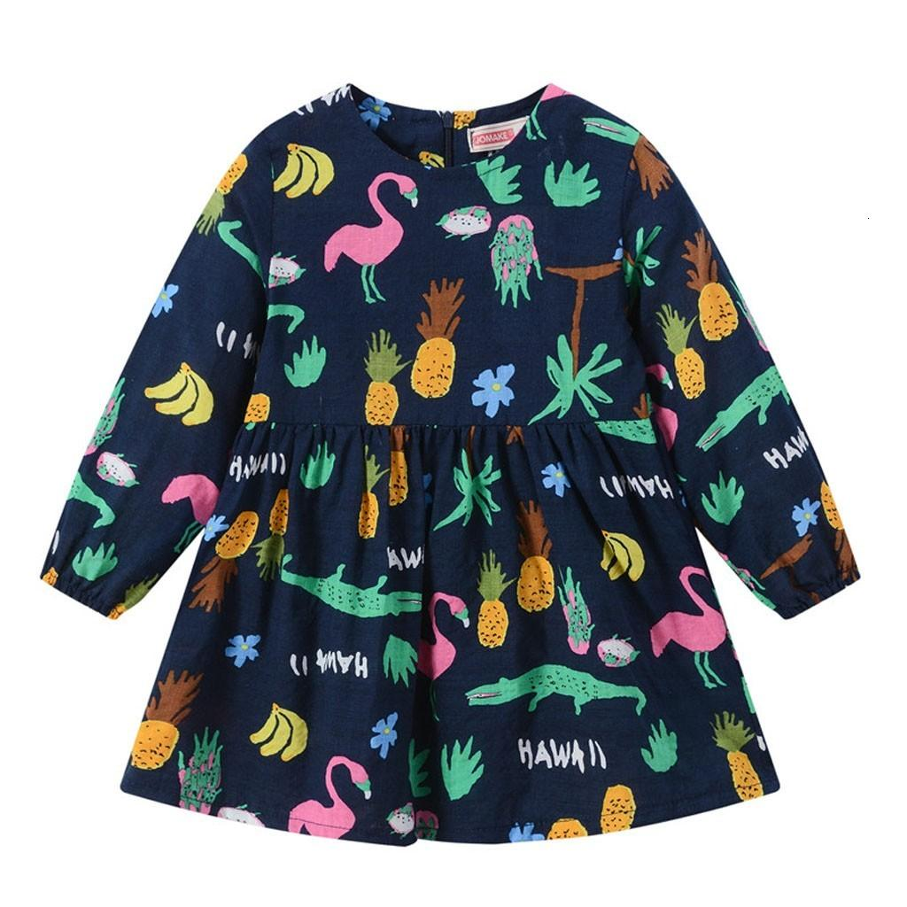 Excelent newst baby dress Fashion Toddler Baby Kids Girls Nary Cartoon Long Sleeve Feather Zipper Princess Dresses Clothes Z0208