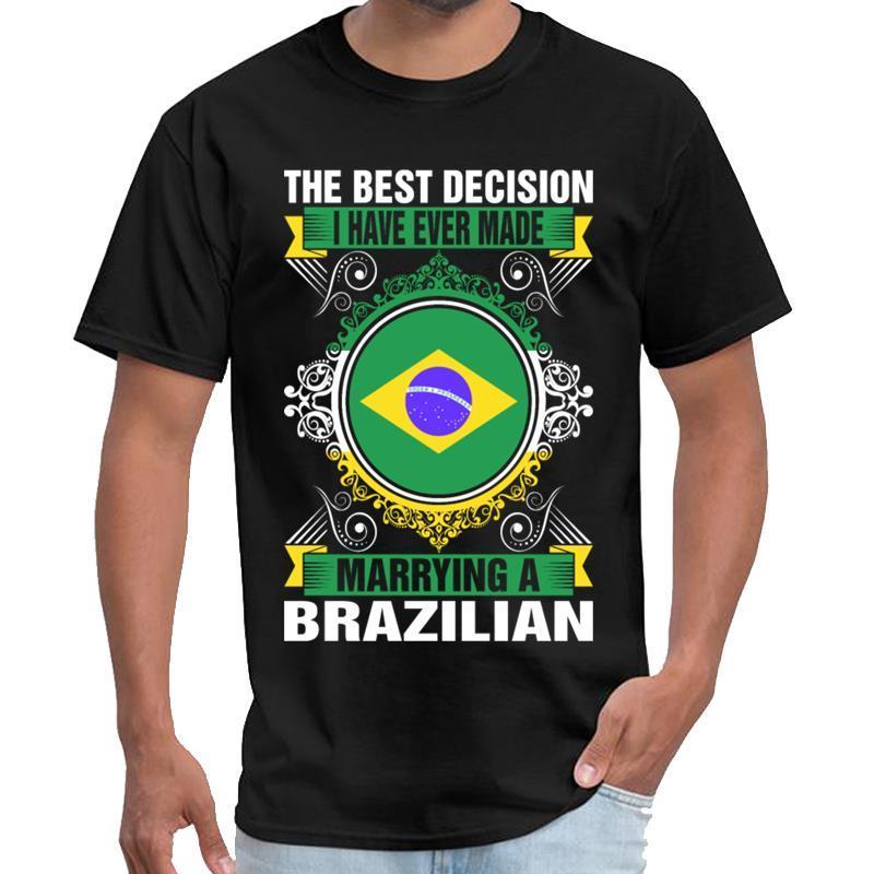 Drôle Marier Un Brésilien t-shirt unisexe t mens t-shirt blanc 3XL 4XL 5XL tenue 6xl