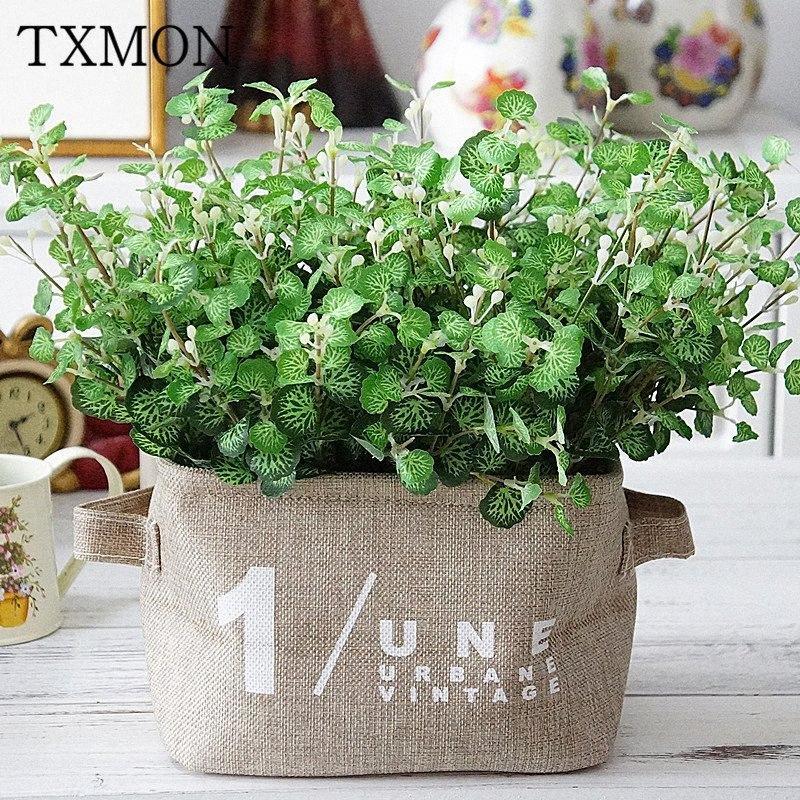 Pflanzenwand alle Arten von dekorativen Materialien mini Geld Blätter Blätter Simulation gefälschte Blumen nach Hause Fotografie Hochzeit Hawthorn b1El #