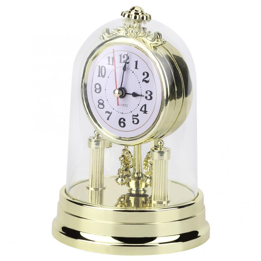 Tablo Avrupa Retro Tarzı Salon Antik Sessiz Masaüstü Ofis Alarm Ev Dekorasyon Saat Y200407