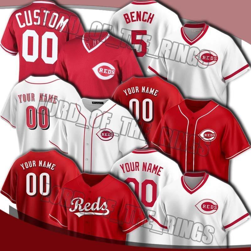 Rojo de encargo 19 Joey Votto Jersey 27 Trevor Bauer jerseys 5 Johnny Bench 11 Barry Larkin Jersey 2 Nicolás Castellanos, Luis Castillo Jersey