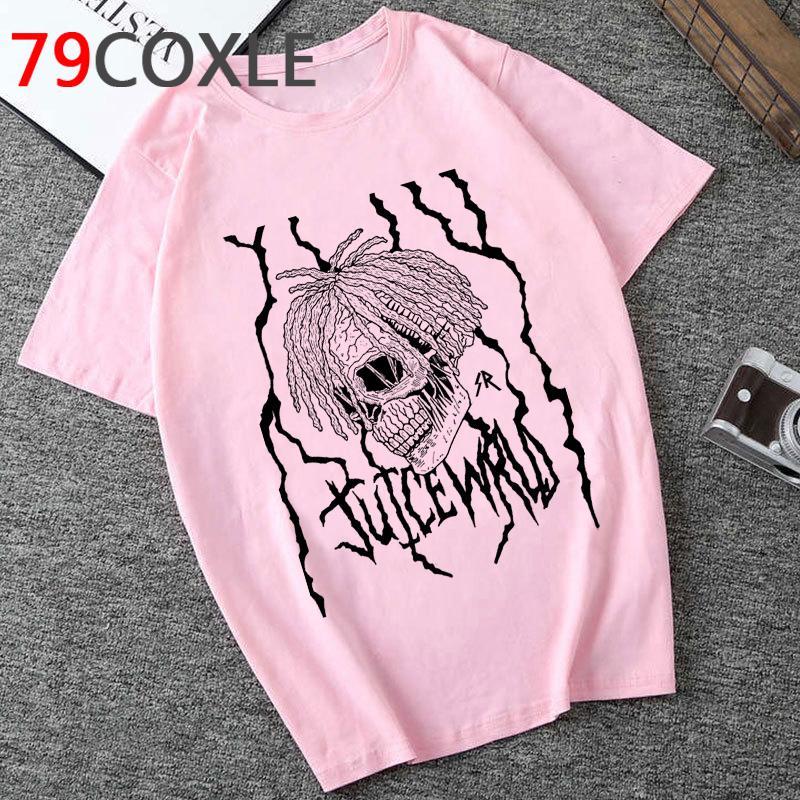 RIP Rapper Juice WRLD Graphic Tshirt Uomo Summer Cool Streetwear T-Shirt Unisex Estetico Casual Tshirt Nuovo Hip Hop Top Top Tees maschio