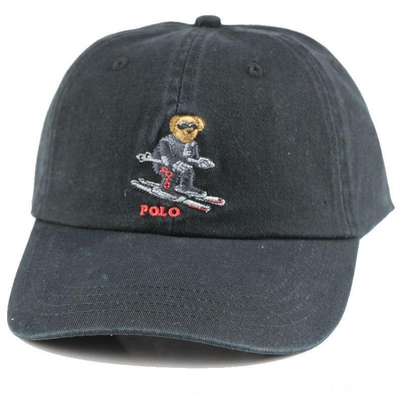 Byala polo yeni kapak Kore tarzı moda şapka erkek ve capClassic capbaseball kadınların güneş geçirmez eğlence şapka Ayı Kayak kap beyzbol