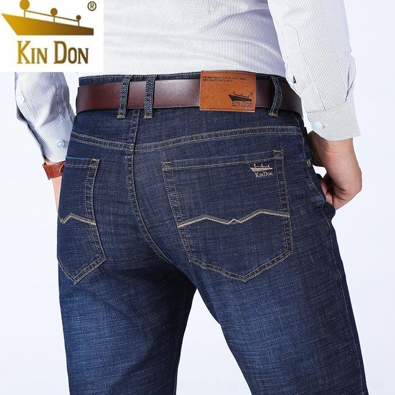 0Klow KIN DON / Altın Kalkan gündelik ince kot ve kot düz gevşek iş erkek pamuk elastik yaz erkekler büyük boy pantolon
