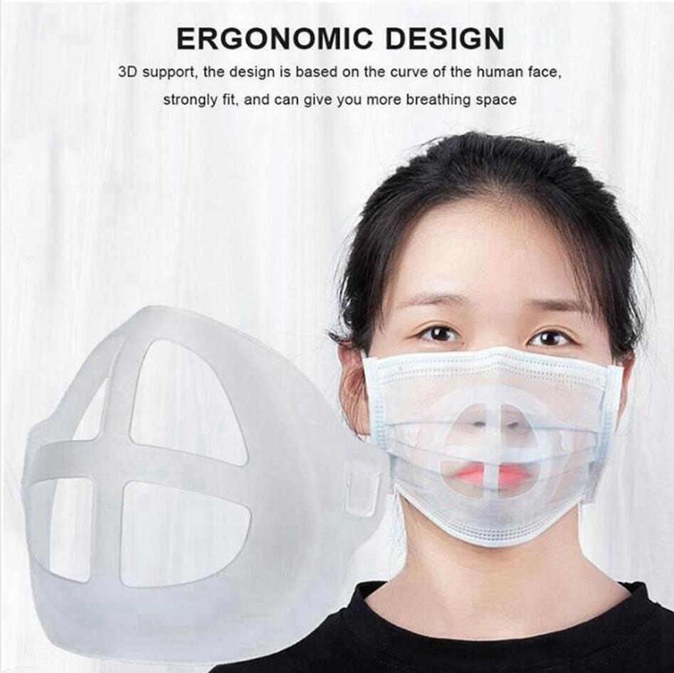4 stili in silicone Maschera Staffa Rossetto Protezione basamento della maschera di supporto interno per migliorare la respirazione uniformemente Maschere Accessori LJJP319