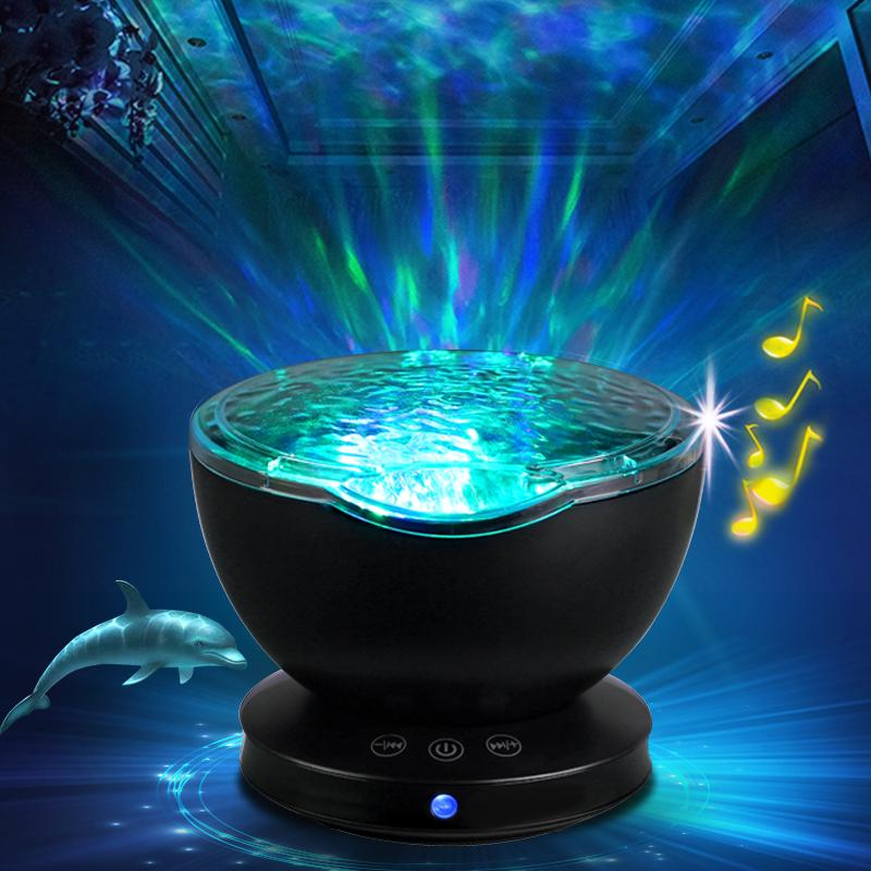 Baby Luminous Toys Night Sleep Light Star Sky Ocean Wave Music Player Projector Lamp Baby Kids LED Sleep Appease Lights Gifts Novelty Toyd