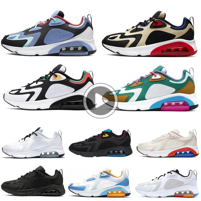 200 Geniş Gri Erkek Erkekler 200s Bordo Çöl Kumu Mistik Yeşil Kraliyet Takım Altın Sporları Ayakkabı Pulse Antrenör Sneakers VQAZ Ayakkabı Koşu Tepki