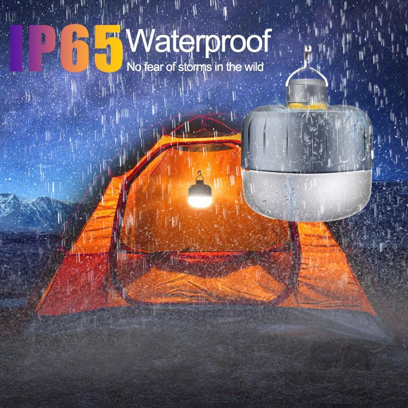 Luces de camping portátil 5W / 7W / 8W / 10W LED linterna que acampa lámpara de las tiendas al aire libre Senderismo Noche Lámpara colgante USB recargable
