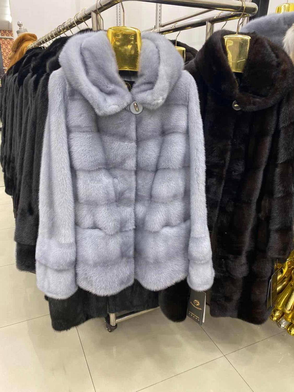로즈는 밍크 진짜 모피 코트 여성 겨울 천연 모피 밍크 코트와 재킷 여성 긴 빈티지 여성 의류 2020 T200905을 따뜻하게 ERS