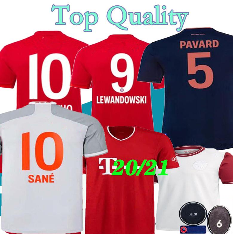 Tailandia 20 21 Bayern Munich PAVARD DAJAKU camiseta de fútbol 2020 2021 Lewandowski MULLER HERNANDEZ camisa camiseta de fútbol de los hombres de los niños fija uniformes
