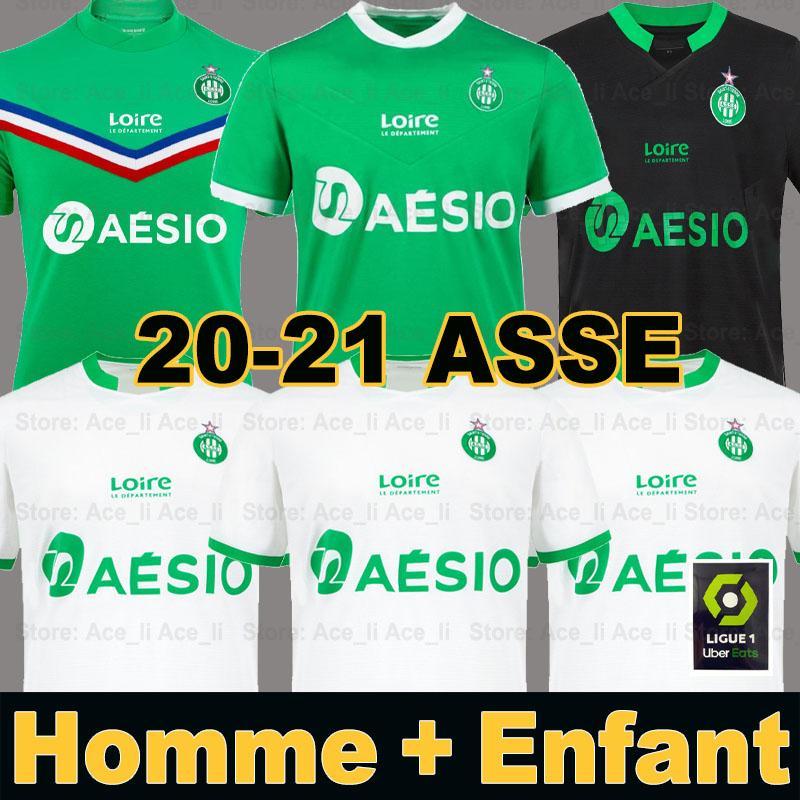 20 21 maillot AS Saint Etienne ASSE Fußballtrikots 2020 2021 BOUANGA KHAZRI maillot Saint-Étienne DIONY YOUSSOUF BOUDEBOUZ HAMOUMA Mann Kind Ausrüstung für Fußballtrikots