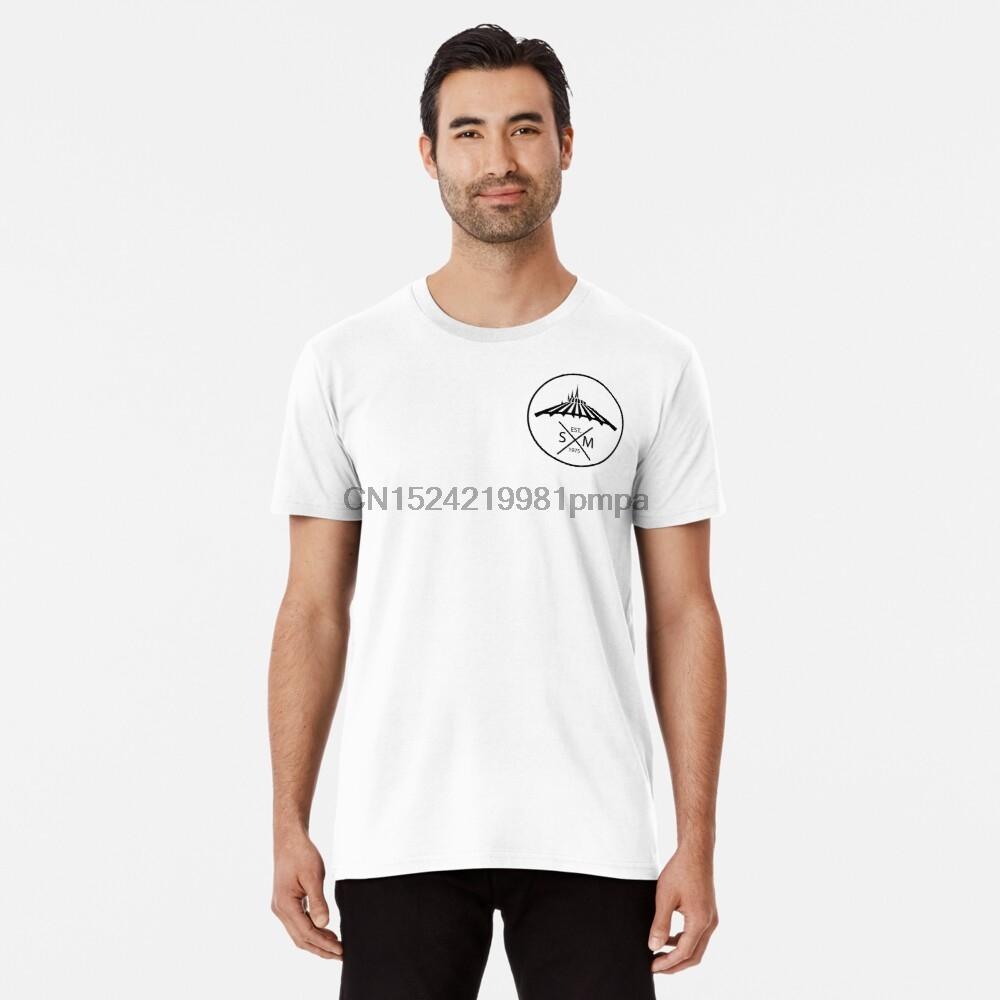 Erkekler Tişörtlü Space Mountain Cep Premium Tişörtlü Kadınlar tişörtleri