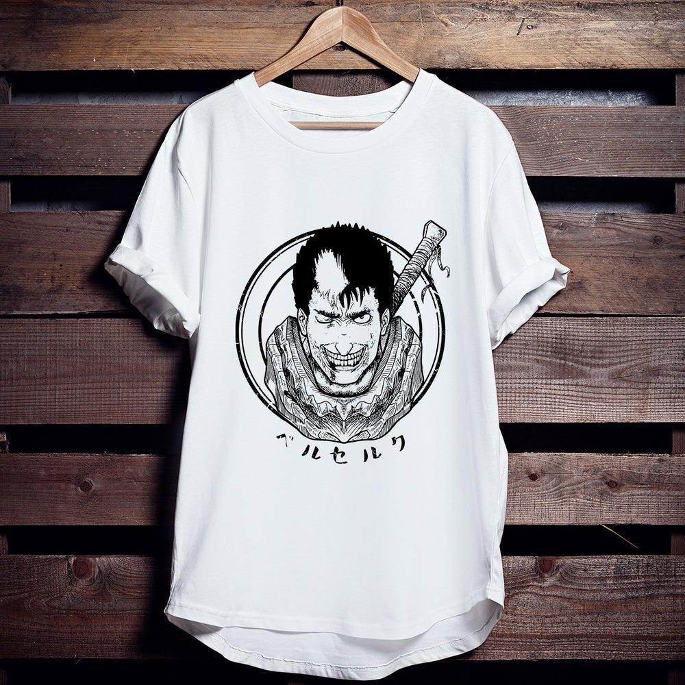 T-shirt Berserk Guts schwarz Schwertkampfer Manga Anime Japon Horreur Anime unisexe T-shirt (3)