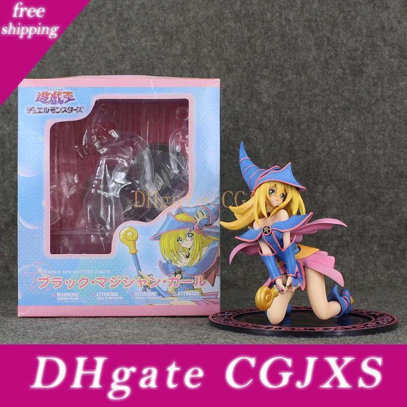16'nın .5cm Anime Yu -ği Oh! Düellosu Canavarlar Siyah Büyücü Kız Ver 07/01 PVC Action Figure Koleksiyon Modeli Bebek Oyuncak