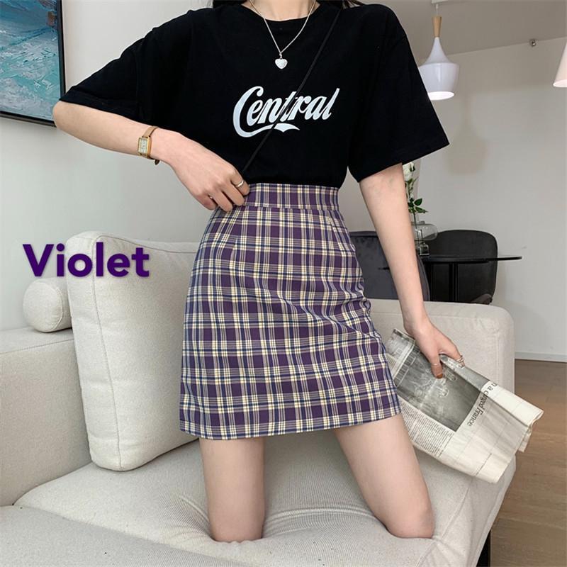 vk4Yn Français hanche A- style de ligne Plaid ligne A haut été des femmes jupe taille minceur étudiant style coréen jupe de la hanche tout match
