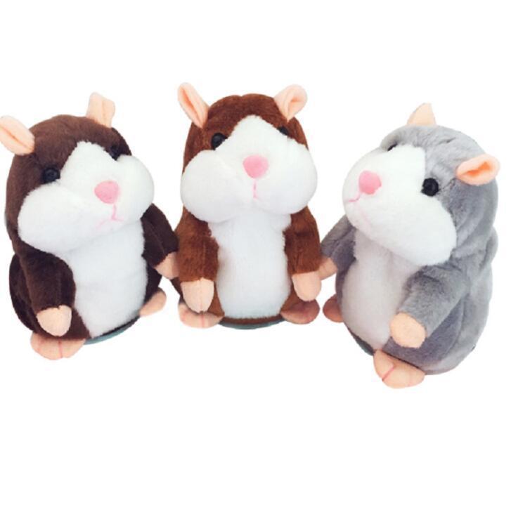 Animaux en peluche Parler hamster souris Animaux en peluche Souris Jouet Speak Mignon son enregistrement Hamster enregistrement Parler souris en peluche enfants Toy DHD277