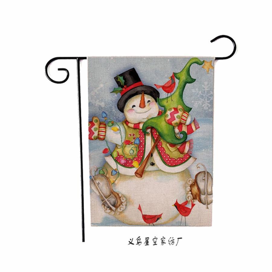 Рождество висячие Флаги номеров Магазин Window Подвеска Главная партия орнамент стены Открытый Xmas Санта-Клаус украшения двери Флаги с талреп # 488