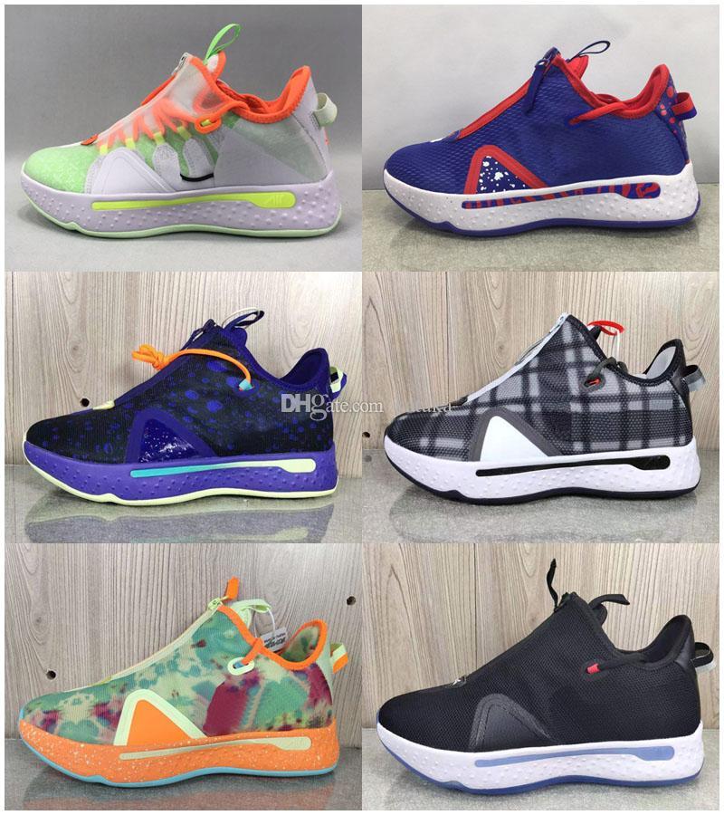 Arrivo Paul George PG 4 IV Arancio nero navy Uomo Scarpe basket per Chaussures PG4 Sport 4s allenatori sportivi Sneakers