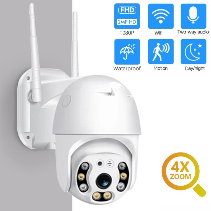 1080P Überwachungskamera WIFI im Freien PTZ Dome Speed Wireless IP-Kamera CCTV-Pan Tilt 4XZoom IR Netz-Überwachung P2P CAM