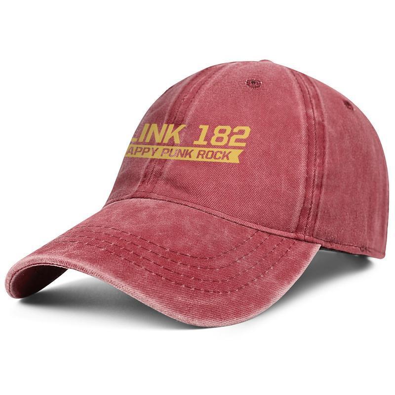 Unisex Blink 182 crappy punk rock Fashion Denim Baseball Cap Cool Washed Dad Hat Adjustable Vintage Ball Beast rabbit Punk