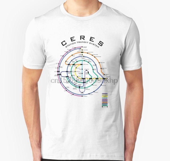 tshirt Short Hommes CERES STATION TRANSIT CARTE unisexe T-shirt de femmes t-shirt