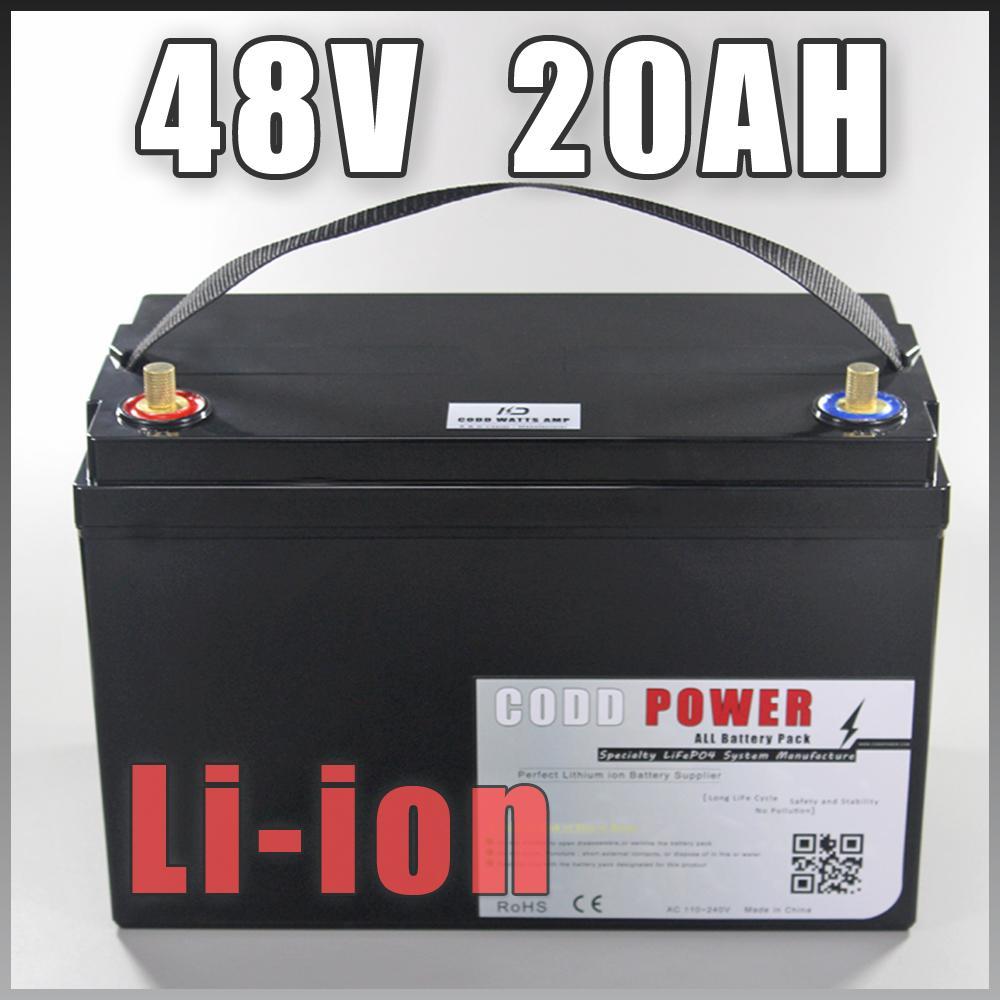 48V 20AH Batterie Boîtier étanche pour 1000W 1200W kits vélo électrique