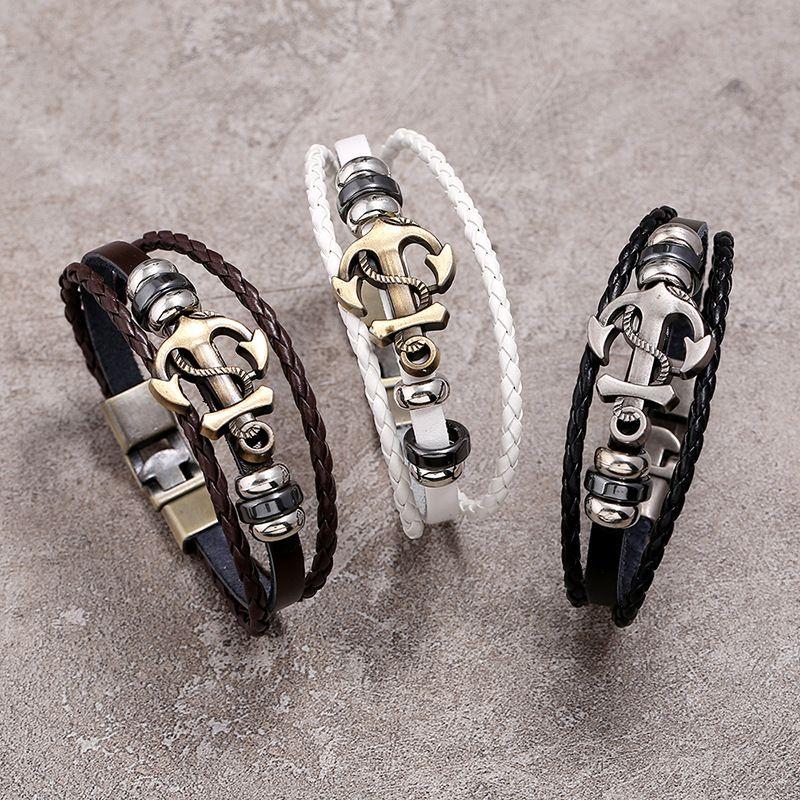 أسلوب المجوهرات الفاخرة أساور فاسق مزيج لعدد كبير من الأزياء والمجوهرات والجلود الجملة سحر لانهائي العتيقة فال الملحقات
