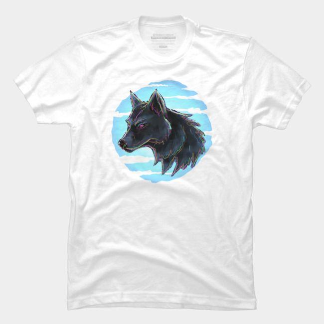 2020 Mode für Männer-T-Shirt Sommer Persönlichkeit Wolf und Mond