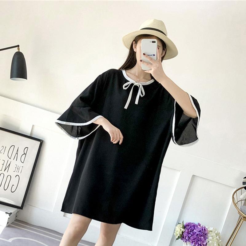 stU3i 200/350 Jin lâche et graisse 150/160/170 300 taille mi-longueur en mousseline de soie grand buste superbe robe robe