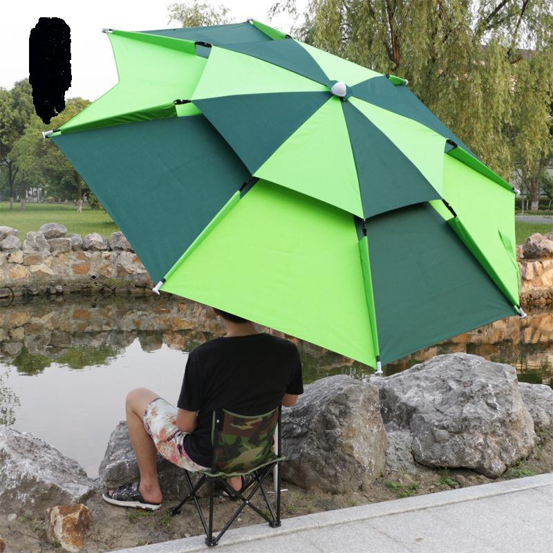 Tiendas de campaña y refugios 2 M Pesca Pesca Plegable Paraguas Al Aire Libre Prueba Sundial Anti-UV Sombrilla Camping Toldo Portátil Tarra impermeable