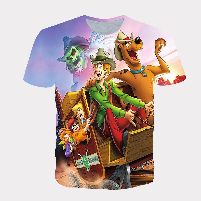 Sommer-kühle 3D Cartoon-Hund T-Shirt Männer / Frauen Mode Street Hip Hop Harajuku 3D-Drucken Naruto Männer T-Shirt Kleidung Top