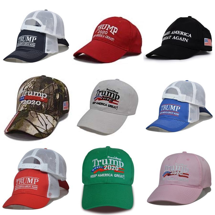 Donald Trump 2020 Campaign Black Hat Conservare rendere l'America Grandi fai da te Cappelli Ricami Donald Trump Caps Donald Trump Kapelusze # 913