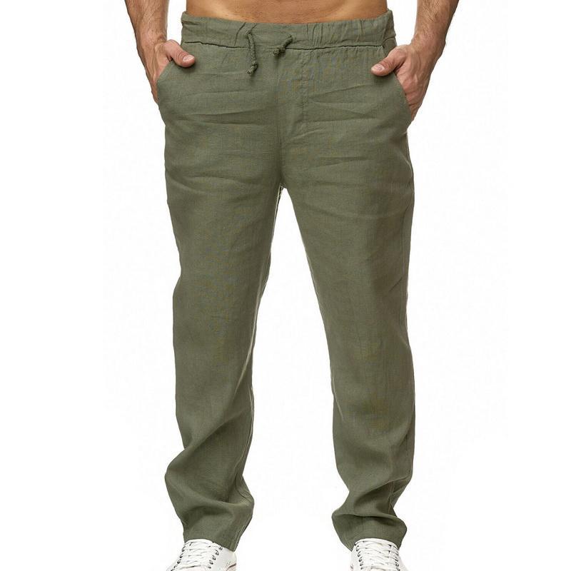 HEFLASHOR Cargo Pants Men travail Respirant Quick Dry 2020 Pantalons simple Eté Automne imperméable Pantalon ample Homme