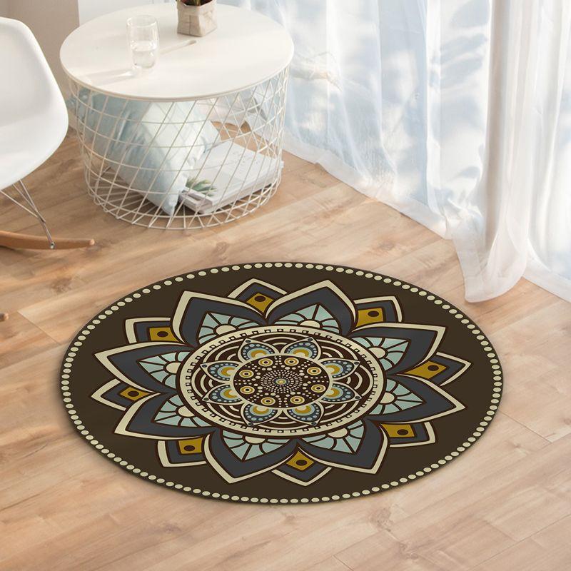 La decoración del hogar de la alfombra de Marruecos Superficie Ronda manta de terciopelo Crystal Comedor suave alfombra del piso de polvo Fácil limpieza D35