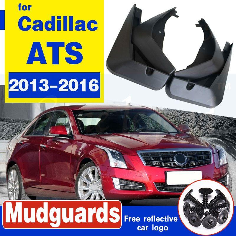 4pcs / Set Auto vorn hinten Schlamm flattert Spritzen-Schutz Fender Radabdeckungen für Cadillac ATS 2013 2014 2015 2016 Schmutzfängers