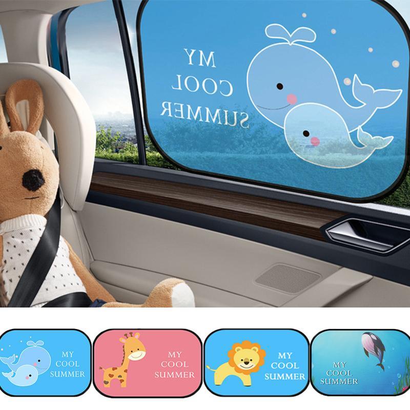 2ST Magnetic Autoseitenscheibe-Schirm Sonnenschutz Tier Vorhang Sonnenblende UV-Schutz-Vorhang für Junge Kinder Autos Rückseitenabdeckung