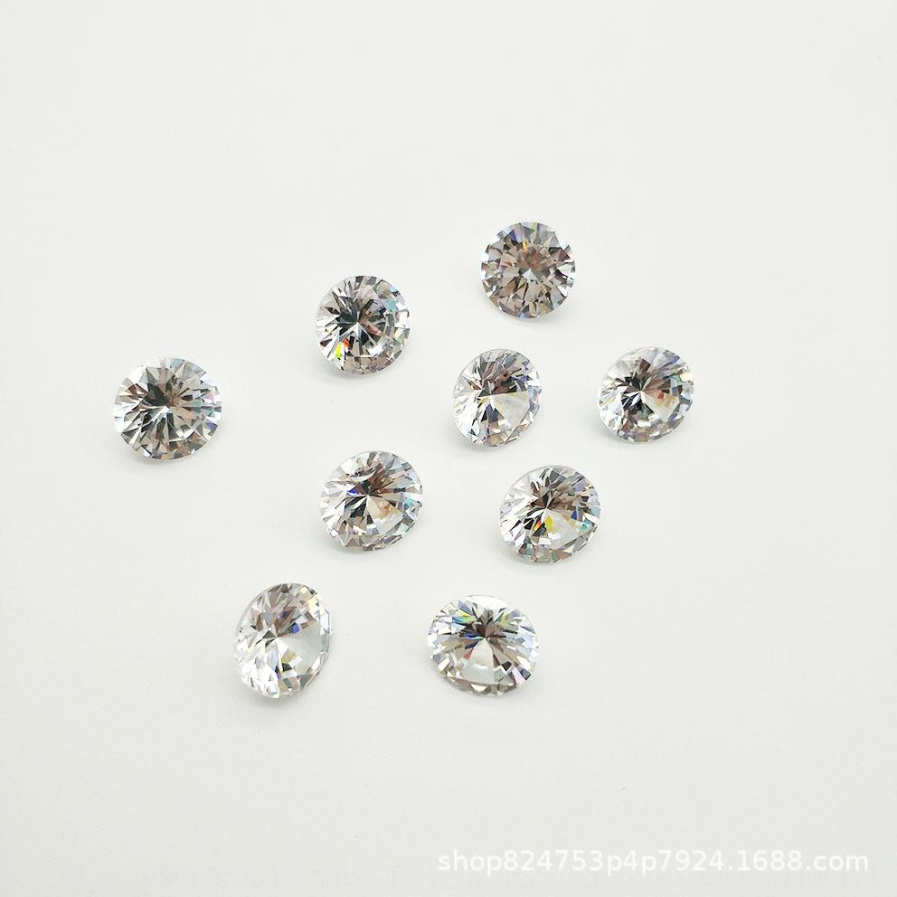 Blanca y fina fina diamante blanco redondo pequeño suelta de diamantes pequeña 3a Ronda de circón desnuda piedra zirconia simulación artificial de perforación suelta