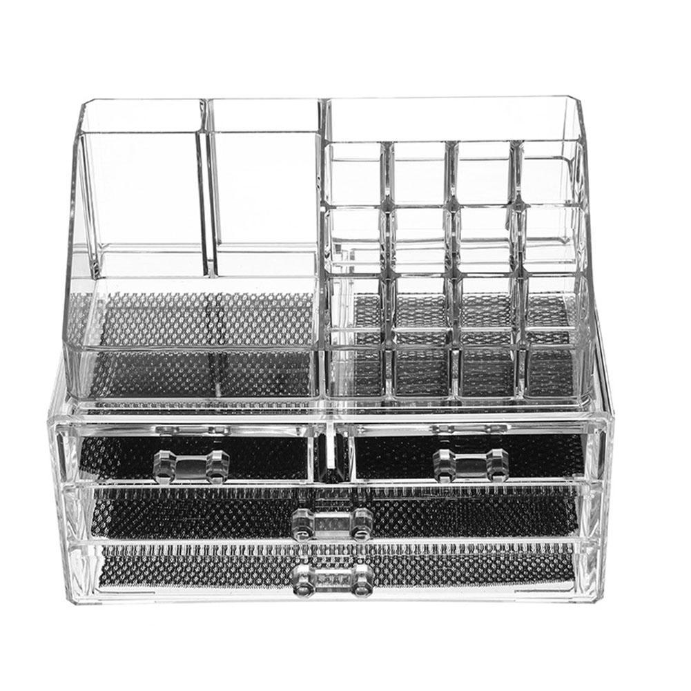 Drawer Cosmetic Storage Box Case Tools Transparent Acrylic Makeup Organizer