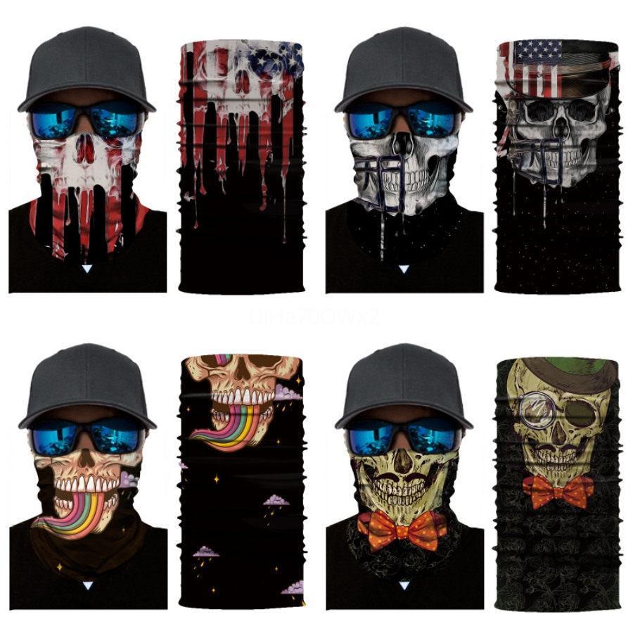 Multifunção Cosplay completa da cara do crânio Seamless Crânio chefe Magic Skull Scarf Halloween Prop Partido Máscaras Tooth Quente Neck Sleeve 0 98Xm # 67 # 636