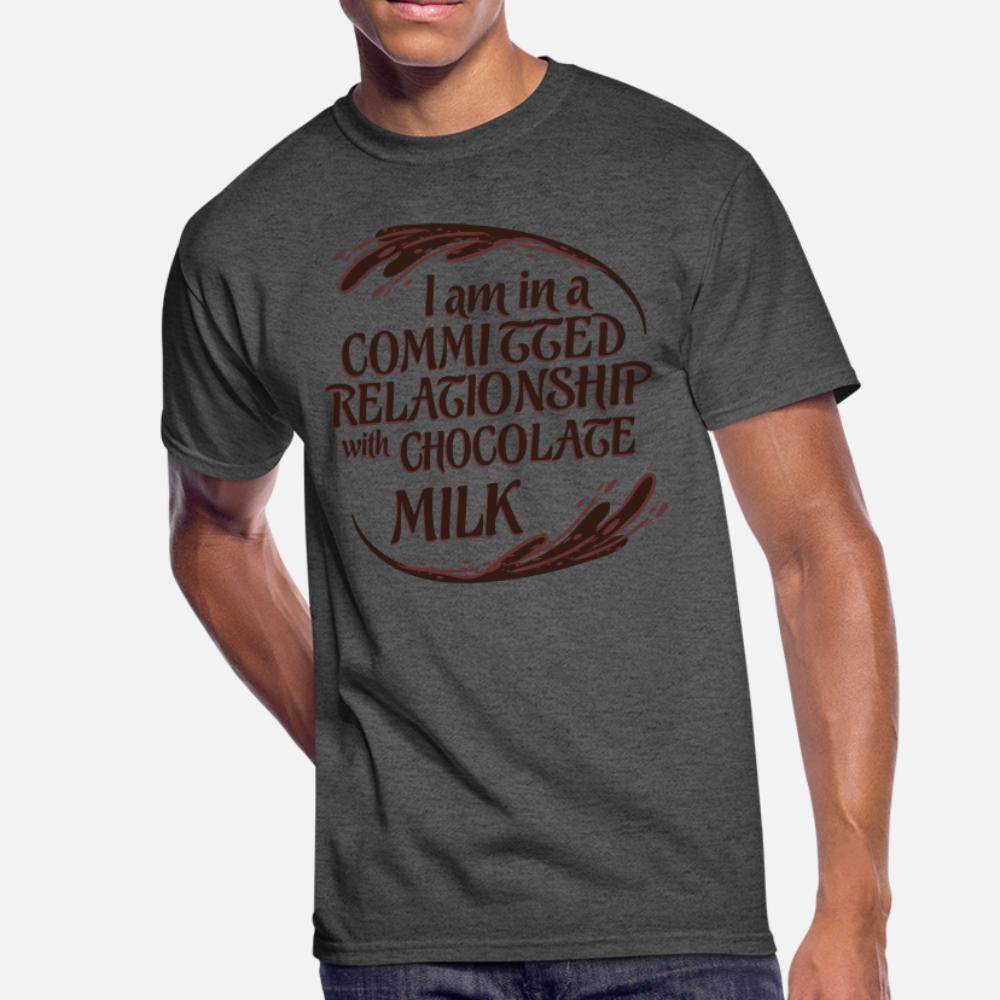 Relazione con cioccolato t uomini shirt personalizzata manica corta in S-XXXL lettere camicia sveglia fresca autentica estate
