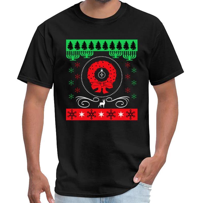 t-shirt vintage laid de Noël chandail cadeau Père Noël Joyeux Noël homme shérif t chemise grande taille ~ 5xL pop tee top