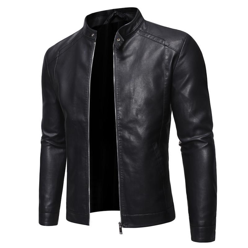 Мужчины искусственной кожи Куртка мотоциклов 5xl Мужские куртки черный Jaqueta де Couro Masculina Outwear Мужской PU кожа пальто мужские, ZA319