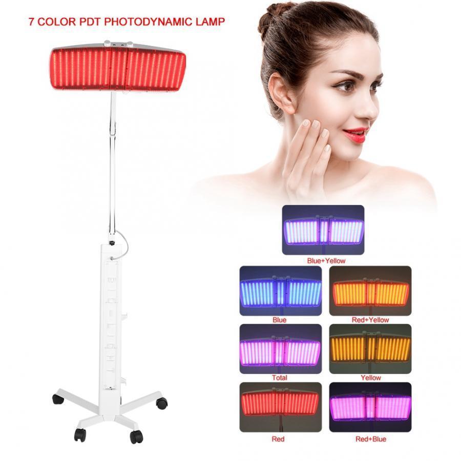LED Light Therapy 7 Cores Photon LED PDT Máscara Facial LED Terapia Fotodinâmica pele rejuvenescimento beleza máquina
