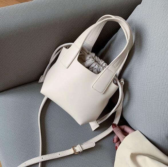 2020 Idosas Backet Bag Plain Lady alta qualidade sacos de ombro Saco de Compras removível Bolsas