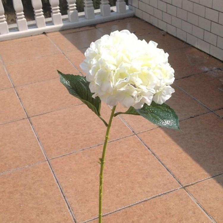 Hydrangea blanco elegante de la flor artificial de seda de la boda de las piezas centrales del ramo de ornamento de la Navidad Garland decoración del hogar de 6 colores