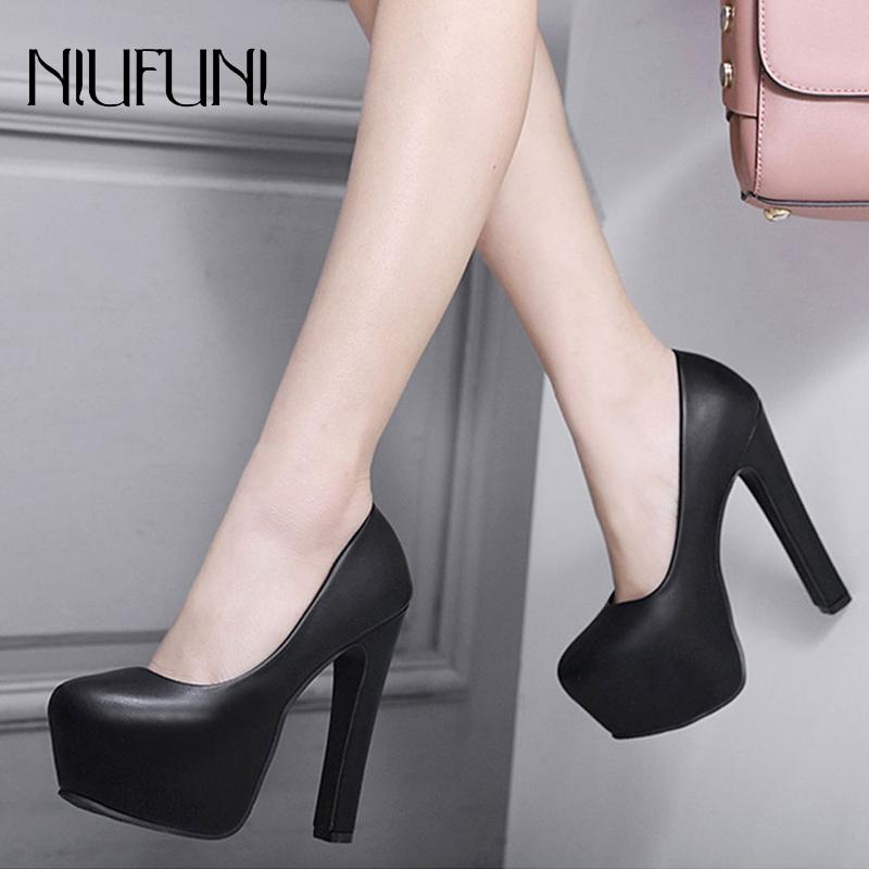 NIUFUNI Ladies High Heels Platform