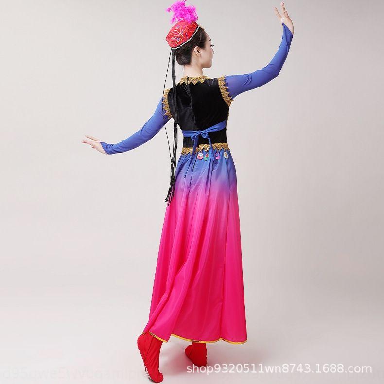 XCKvZ costume danza etnica per le donne e Xinjiang 2019 vestito di abbigliamento nuovi adulti vestito moderno costume uigura apertura di ballo