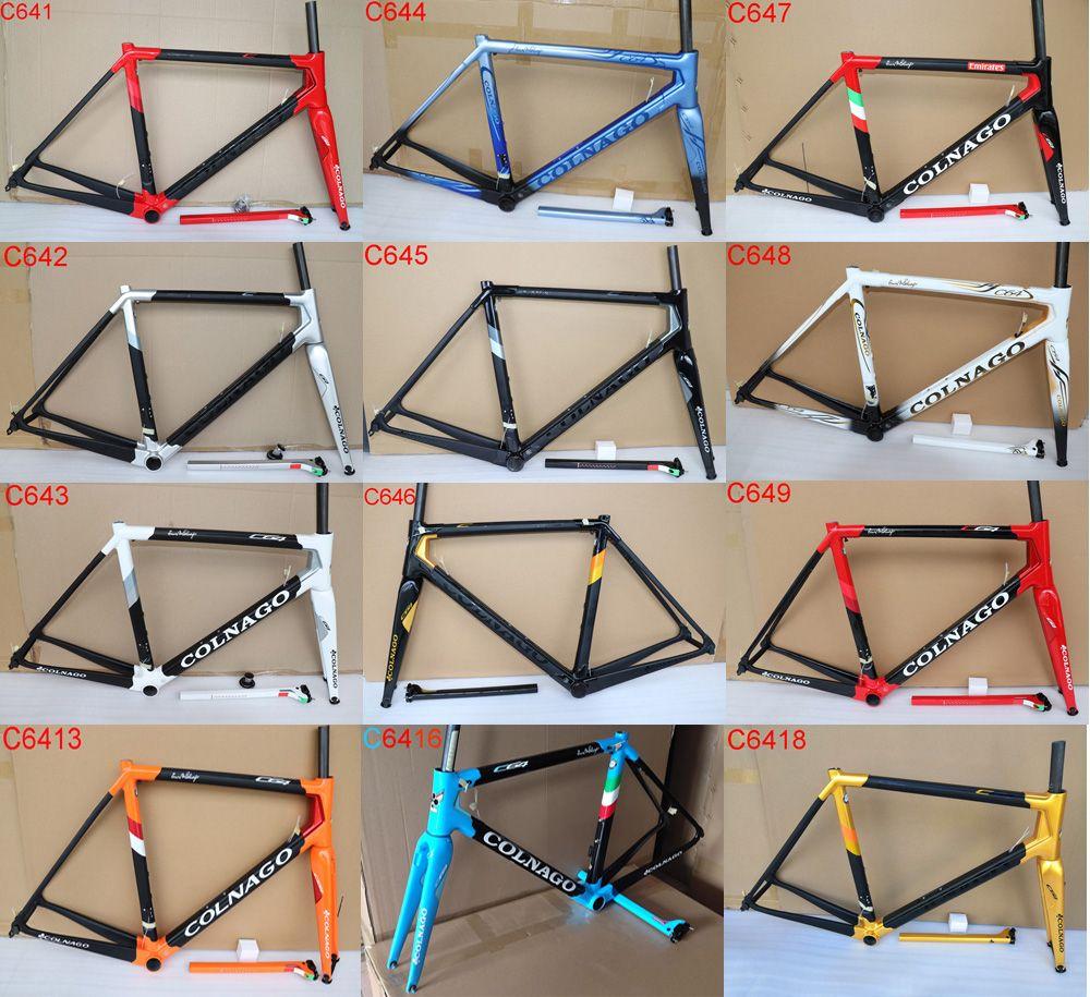 New Colnago C64 carbone Cadre route plein cadre de vélo de carbone UD T1100 taille de cadre de vélo de route en carbone 48cm 50cm 52cm 54cm 56cm