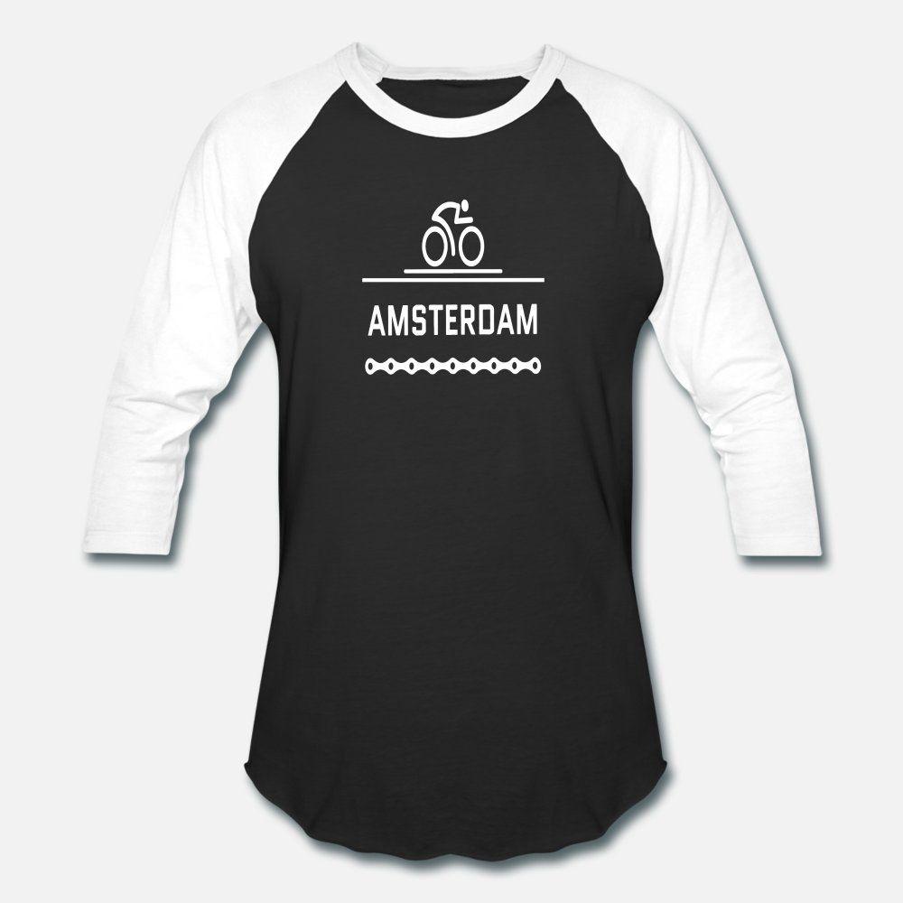 Amsterdam Biker T-Shirt Männer schaffen 100% Baumwolle Rundkragen fit Netter Breathable Sommer Standard-Shirt