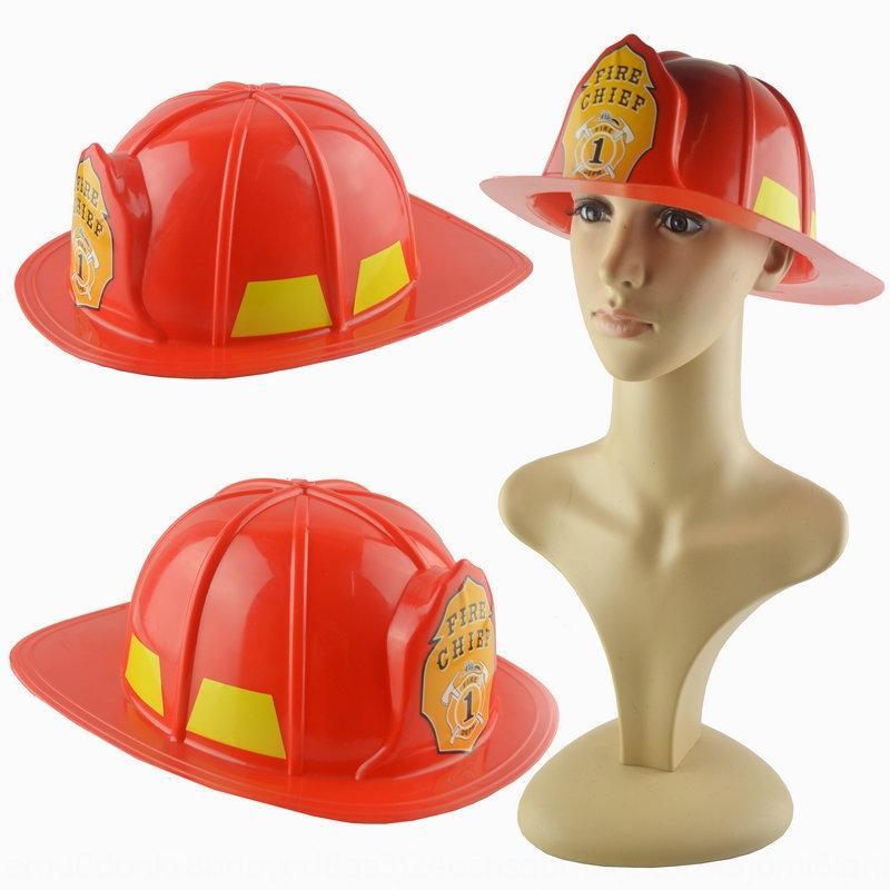 QOUEV lutte contre casque chapeau feu rouge maquillage maison de jeu de jouet partie jouet en plastique cosplay Prop feu des accessoires pour enfants lO4kT